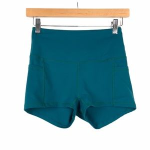 BuffBunny High Rise Athletic Shorts Small Teal
